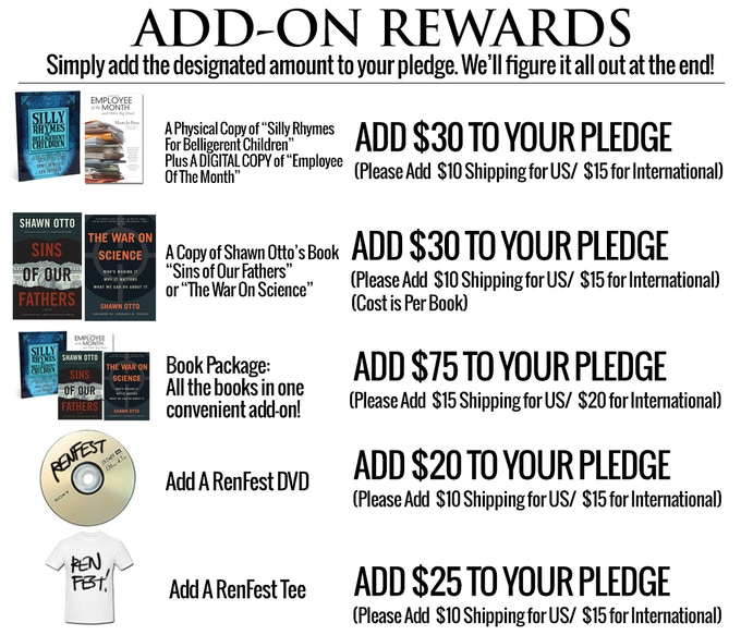 Want more cool stuff? Add these items onto your pledge!