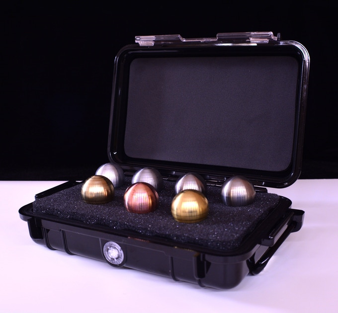 The Magnesium Stem Set, as well as the Titanium Stem Set will come with a Pelican 1040 case (Magnesium Stem Set shown)
