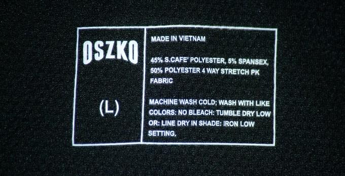 Oszko's Printed Care Label