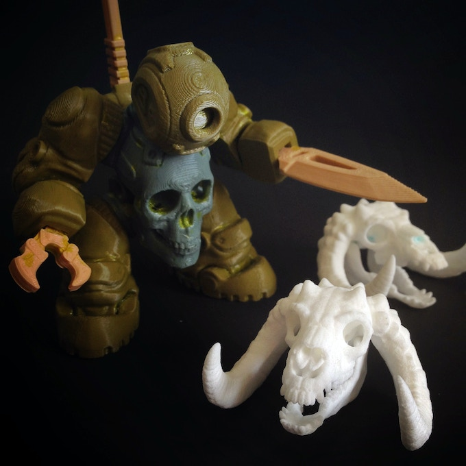 3DK's SkullBot investigates the bones... Click to jump to our Instagram
