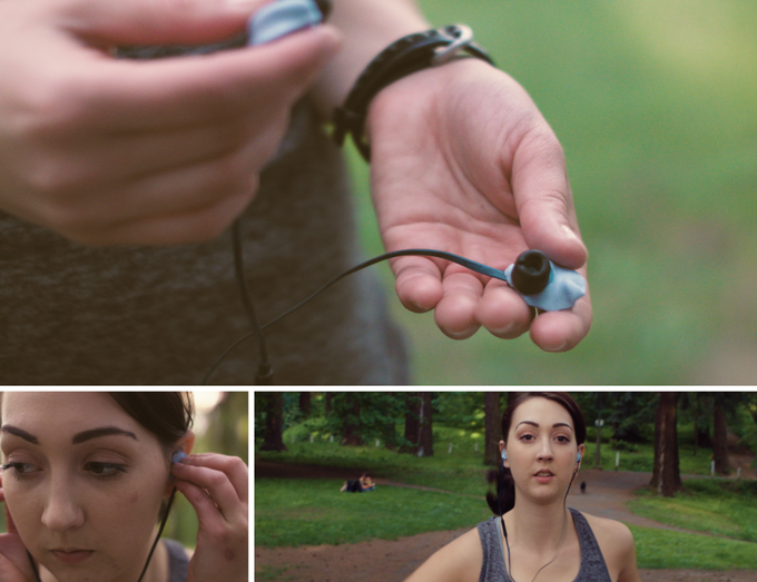 A headphone that will stay put, even when you won't.