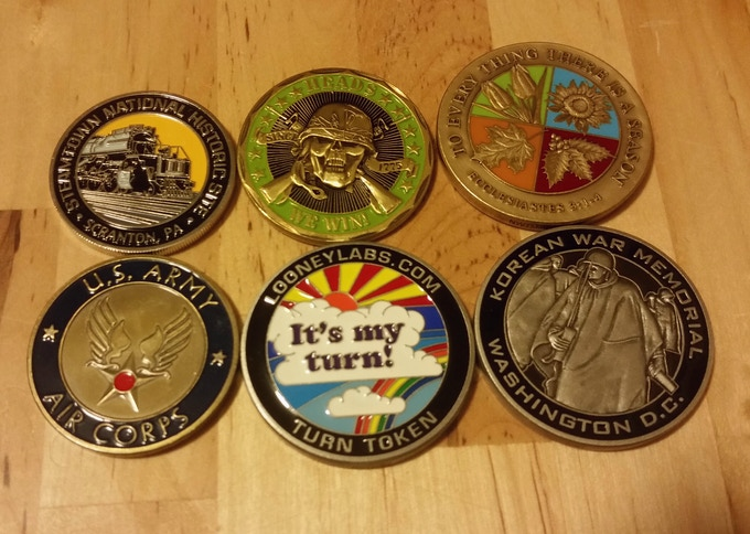 Some sample coins