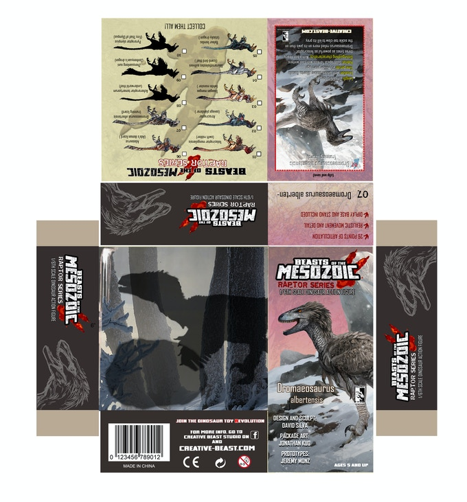 'Dromaeosaurus package layout'