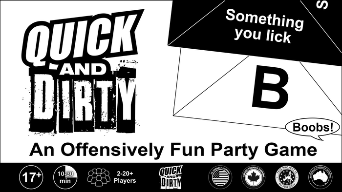 Liven up your next social gathering with the game that rewards quick wits and dirty minds. Easy to learn, fast, fun and portable.