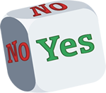 The symbol for a Yes/No decision.