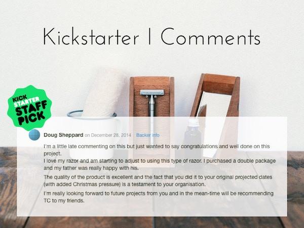 Kickstarter I Comments