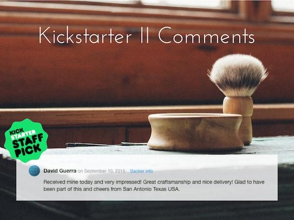 Kickstarter II Comments