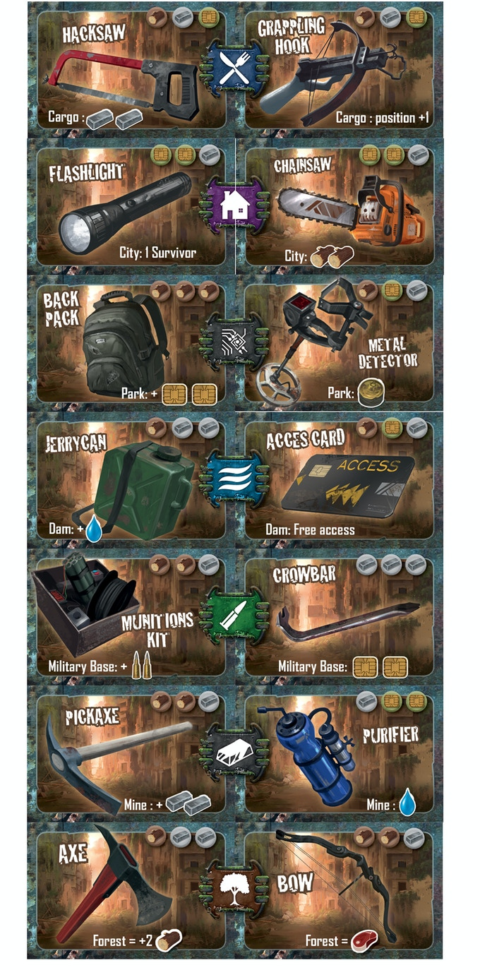 Equipements from base game