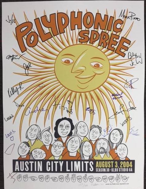 """""""WHAT WOULD YOU DO?"""" Signed Polyphonic Spree Poster"""