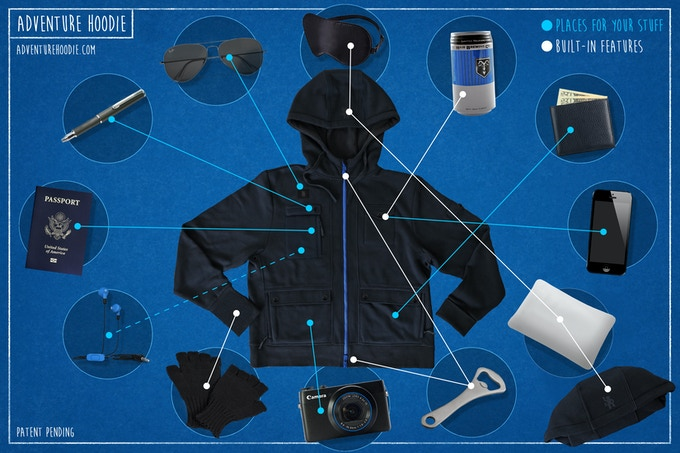 ADVENTURE HOODIE - Pockets & Features