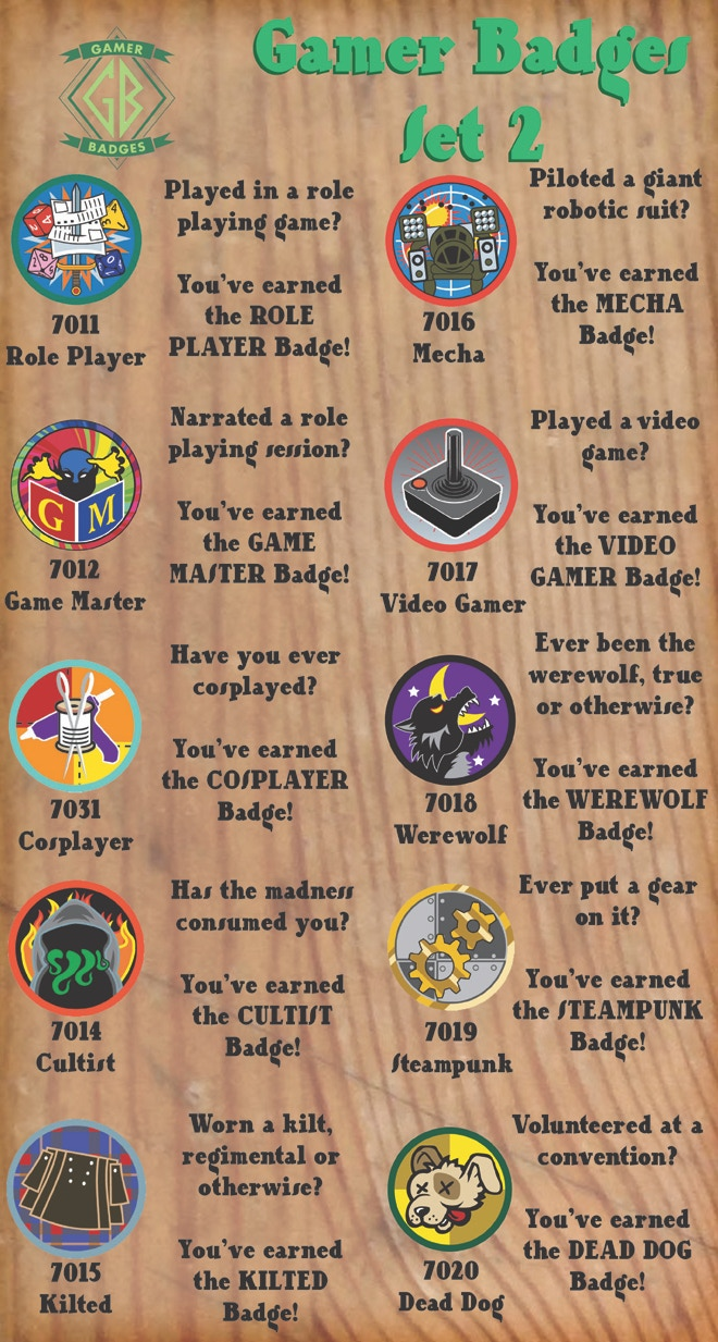 Gamer Badges Set 2 NOW AVAILABLE!