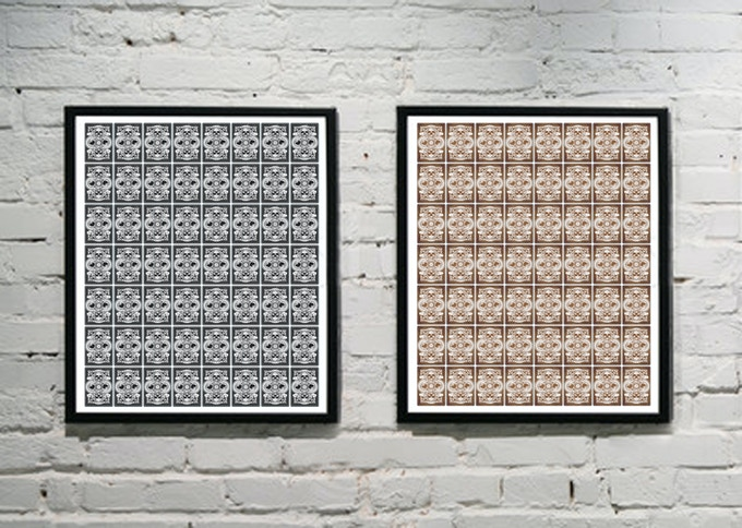 2 uncut sheets, printed from both sides, directly from printing press