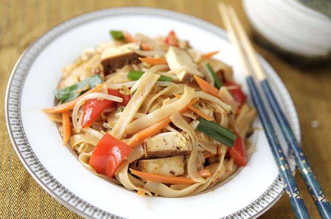 One of my delicious vegan noodle and vegetable dishes