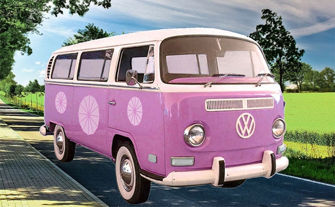 How the VW Bus will look with a custom finish