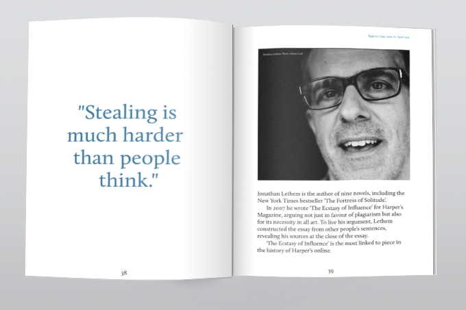 Click the image: read an extract from Lethem's interview.