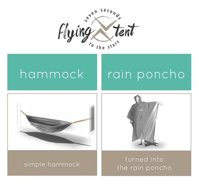 hammock and rain poncho