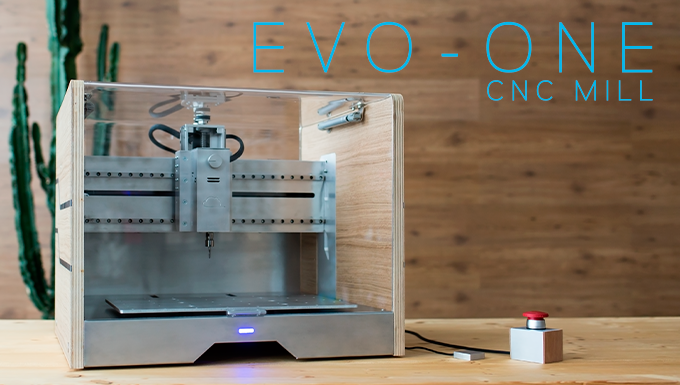 Evo-One is a ready-to-run CNC Mill that gives life to your ideas from any materials.