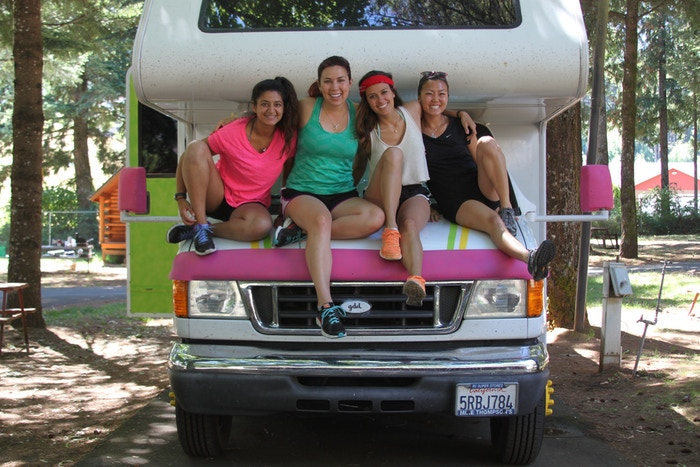 4 Stanford women crossing the country and coaching design thinking and leadership workshops that empower girls to become leaders of social change.