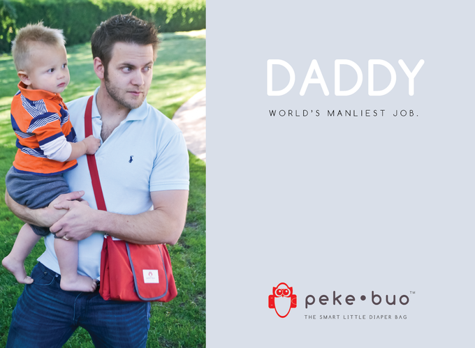 Peke•Buo is stylish on moms and DADS. Plus, what dad wouldn't love the functionality of a Peke•Buo bag?