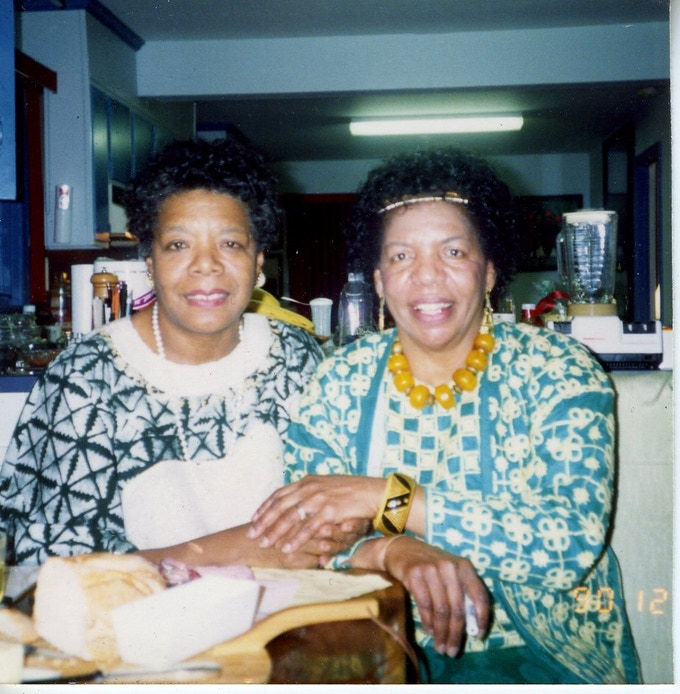 Pierce's Grandmother, Queen Mother Frances Pierce with her friend, Dr. Maya Angelou