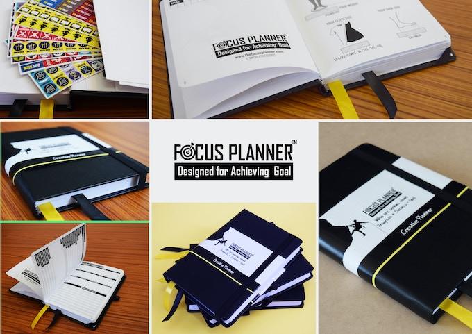 Close views of focus planner