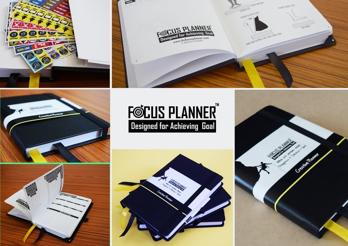 Close views of focus planner