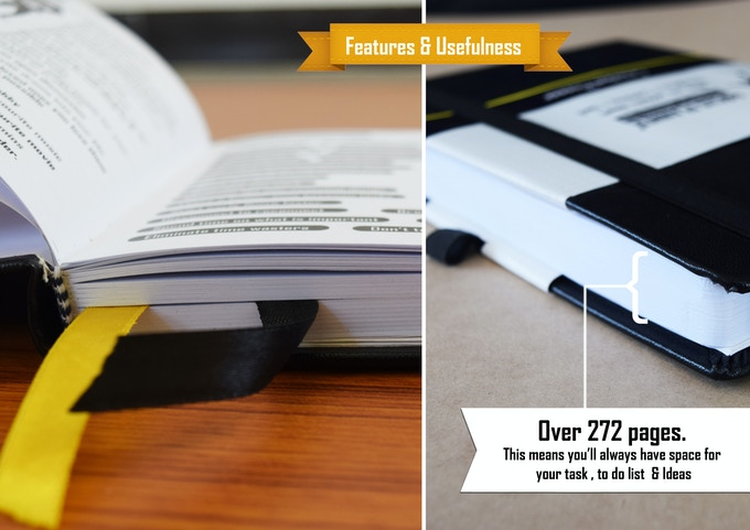 Over 272 pages. This means you'll always have space for your next great idea.