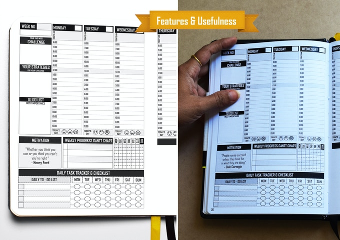 Date-free Planner - Start using the planner any day of the year without wasting pages