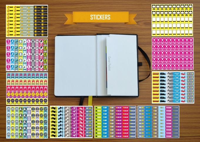 11 set of free stickers with focus planner