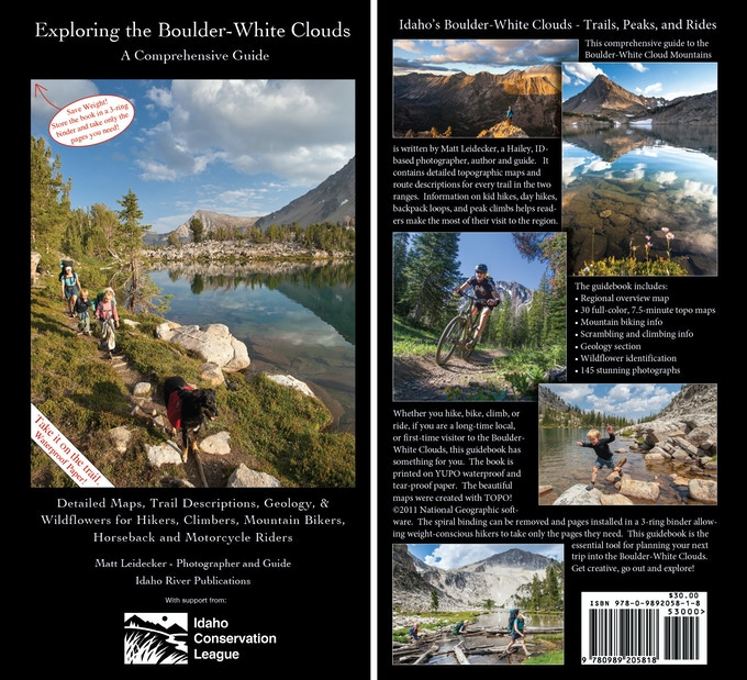 """Front and back covers of """"Exploring the Boulder-White Clouds"""""""