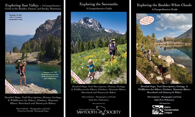 """Cover shots of all three """"Exploring"""" guidebooks."""