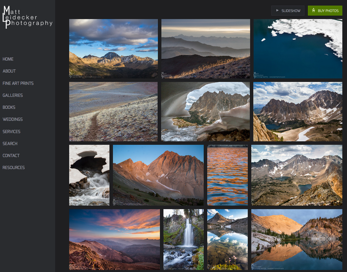Choose your print from a selection of stunning Boulder-White Clouds photos viewable online.