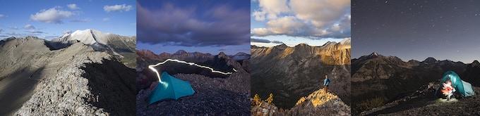 Strawberry Point ridge where Matt created the panoramic image shown below.