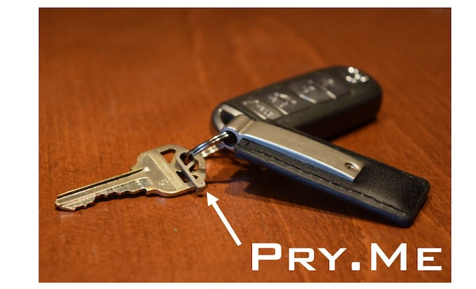 pry me grade 5 titanium micro bottle opener by brian kickstarter. Black Bedroom Furniture Sets. Home Design Ideas