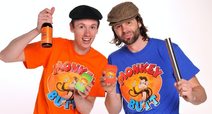 """Chris & Anthony in Monkey Butt T-shirts - you too can look this cool if you pledge for """"Fashion Monkey"""""""