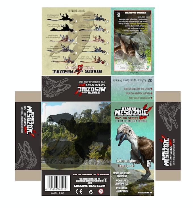 'Acheroraptor package layout'