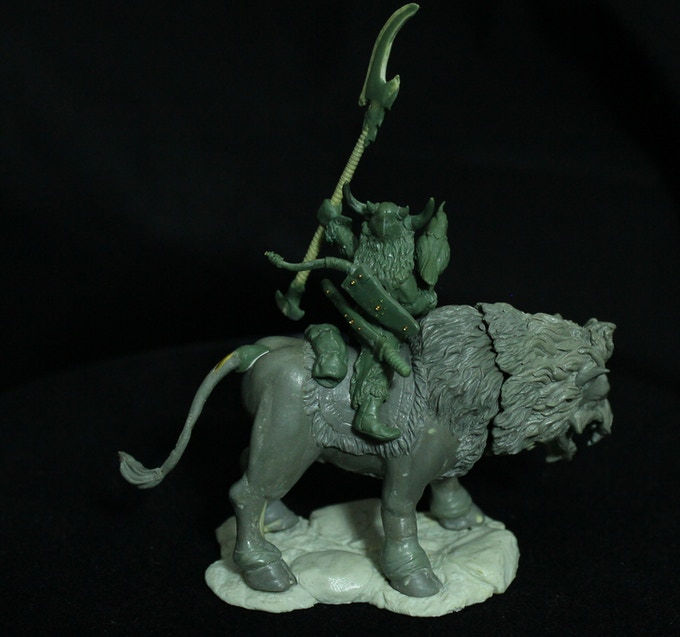Orc Warlord on her Steppe Beast