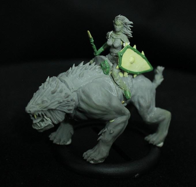 Sha'ar Princess on her Dark Hound