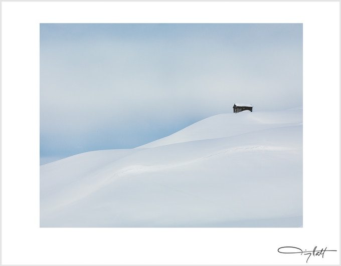 Lonely Hut, paper size 25x32cm , edition of 50