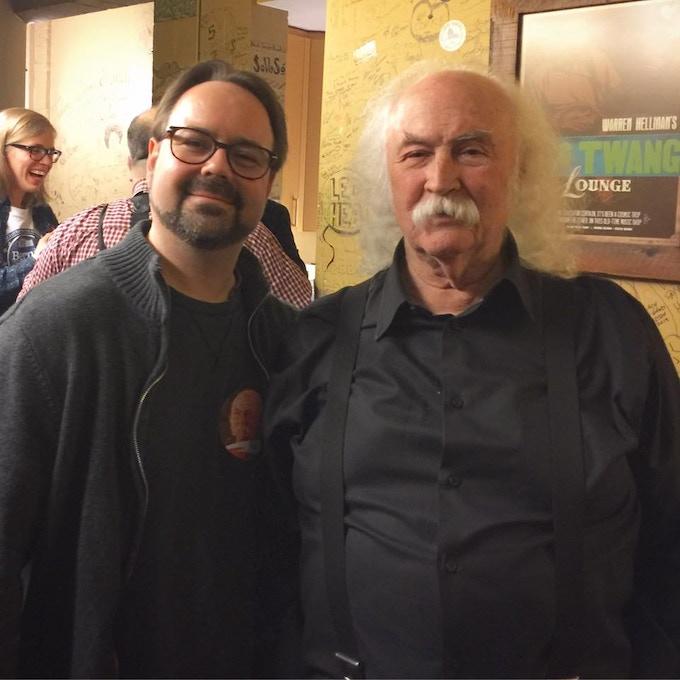 With David Crosby in Berkeley, CA. March 2016.