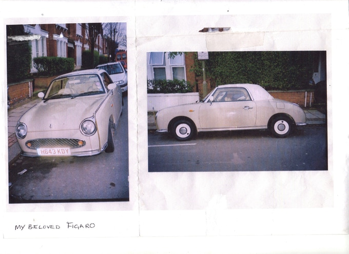 Here's my beloved Nissan Figaro - the car I sold to start getting prototypes made