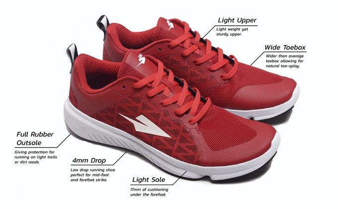 a42afd13680 4mm Drop  The difference between the thickness of padding at the heel and  under the forefoot can make a big difference on the way you run.