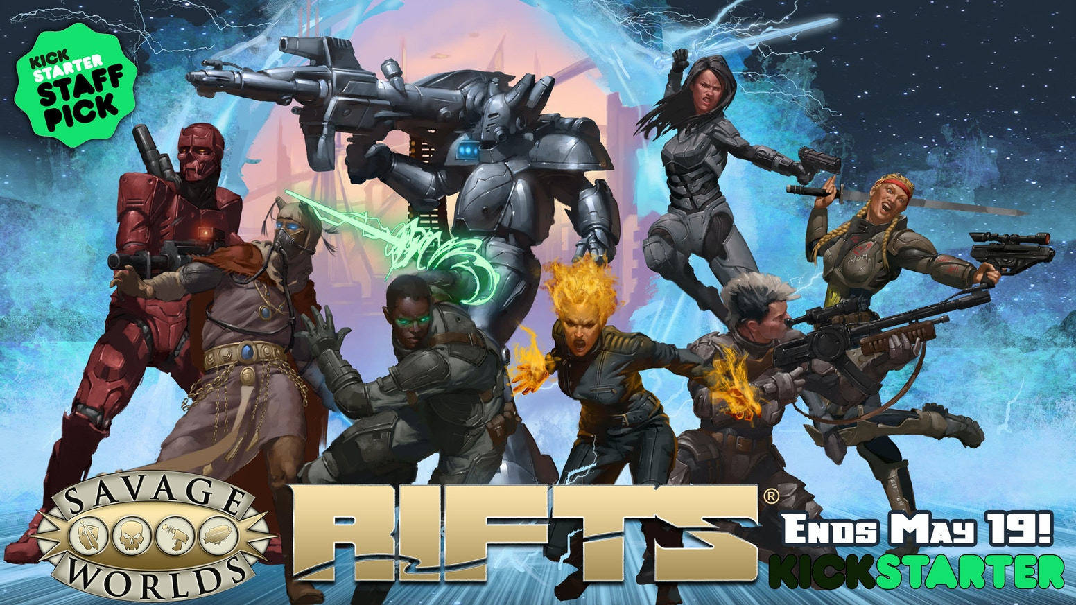 The gonzo Megaversal adventure of Rifts® teams up with the genre-spanning easy-prep award-winning Savage Worlds system!