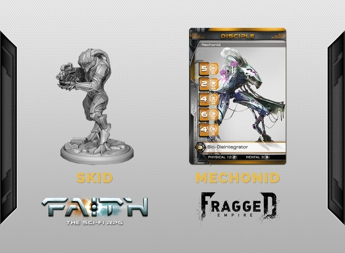 Resin miniature supplied unassembled and unpainted