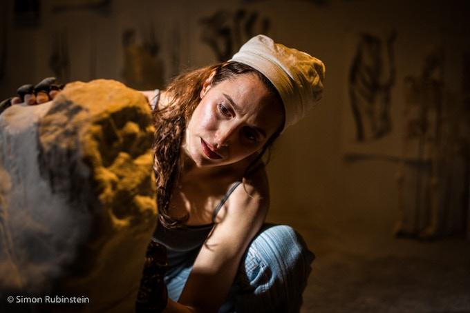 Jyl Bonaguro at work in the Studio - photography courtesy of Simon Rubinstein