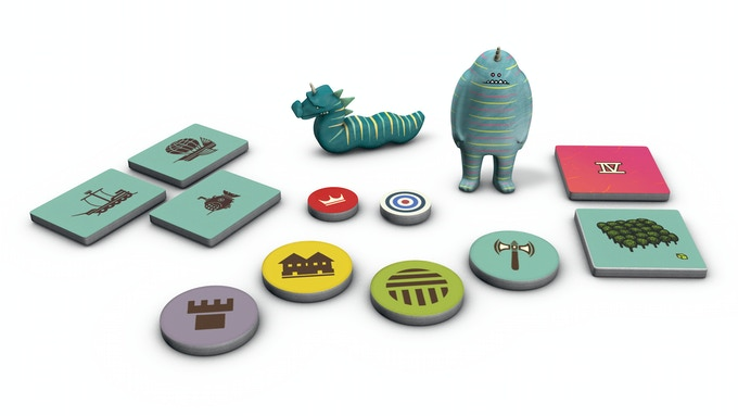 Painted wooden monsters and vivid 3mm punchboard!