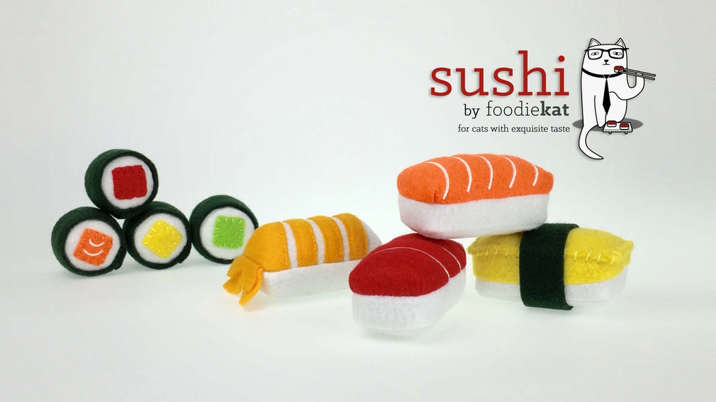 """""""Sushi"""" Catnip Infused Toys - For Cats with Exquisite Taste! project video thumbnail"""