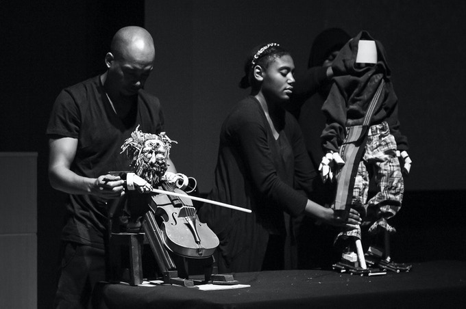 5P1N0K10 - Afrofuturistic puppet show produced by Blackspace debuts to sold-out crowds at The Nasher in Durham (December 2015)