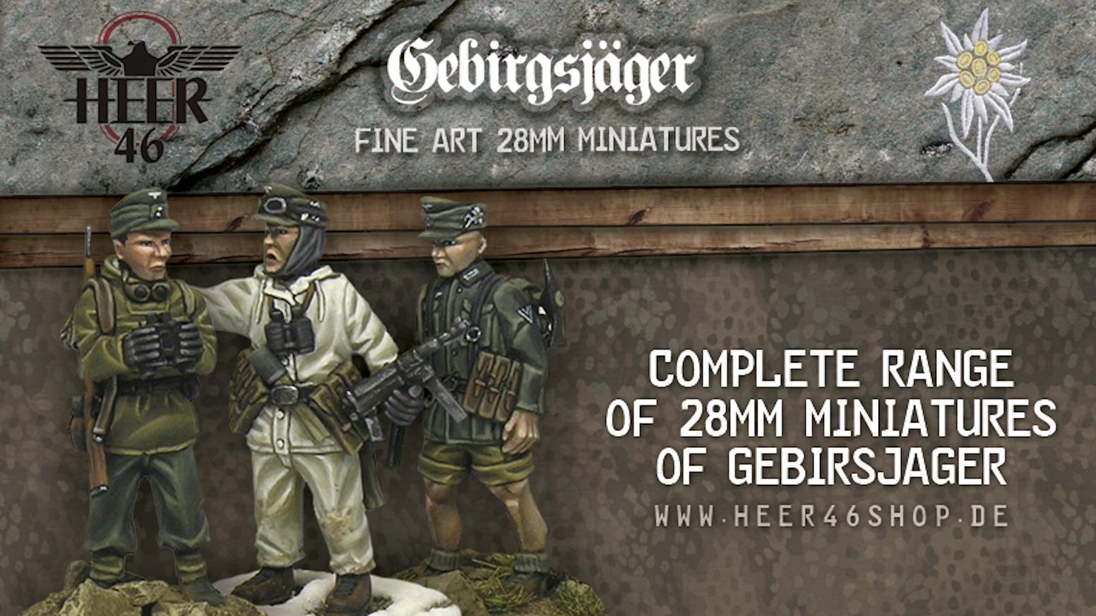 german gebirgsjäger wwii 28mm by heer46 kickstarter
