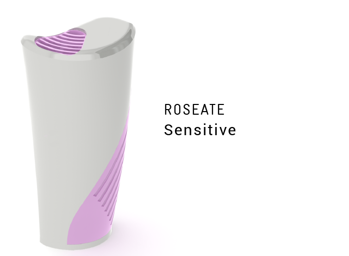 Outtake vent & intake grip accented with a lively baby pink